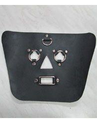 BDSM Δερμάτινη μάσκα με ανοίγματα στα μάτια/μύτη/στόμα