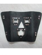 BDSM Δερμάτινη μάσκα με μεταλλικούς χαλκάδες