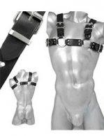 BDSM Ανδρικά διακοσμητικά λουριά των 3 cm για το στήθος