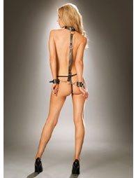 BDSM Δερμάτινο σετ δεσίματος με χειροπέδες και με λαιμοδέτη