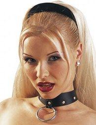 BDSM Περιλαίμιο από δέρμα και με μεταλλικό κρίκο