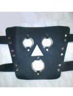 BDSM Δερμάτινη μάσκα ολικής κάλυψης προσώπου