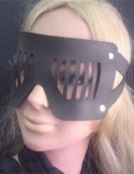 BDSM Δερμάτινη μάσκα διακριτικής ορατότητος