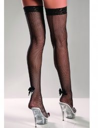 Black Stocking with bow and black seam