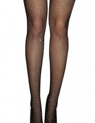 Black fishnet pantyhose