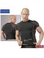 Μαύρο T-shirt με σχέδιο από δίχτυ στους ώμους και στα πλαϊνά της