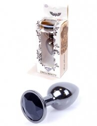Plug-Jewellery Dark Silver PLUG- Black 7 εκ
