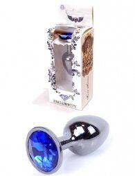 Plug-Jewellery Dark Silver PLUG- Dark Blue 7 εκ