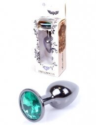 Plug-Jewellery Dark Silver PLUG- Green 7 εκ