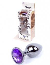 Plug-Jewellery Dark Silver PLUG- Purple 7 εκ