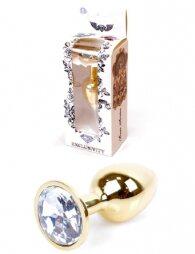Plug-Jewellery Gold PLUG- Clear 7 εκ