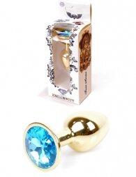 Plug-Jewellery Gold PLUG- Light Blue 7 εκ