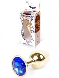 Plug-Jewellery Gold PLUG- Dark Blue 7 εκ