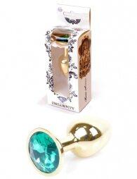 Plug-Jewellery Gold PLUG- Green 7 εκ