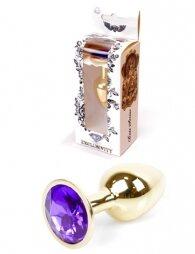 Plug-Jewellery Gold PLUG- Purple 7 εκ