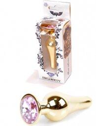 Plug-Jewellery Gold BUTT PLUG- Rose 9,5 εκ