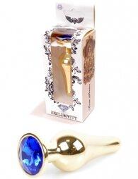 Plug-Jewellery Gold BUTT PLUG- Dark Blue 9,5 εκ