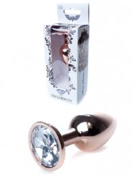 Plug-Jewellery Red Gold PLUG- Clear 7 εκ