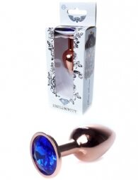 Plug-Jewellery Red Gold PLUG- Dark Blue 7 εκ