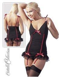 Φόρεμα Ζαρτιέρας Μαύρο-Κόκκινο
