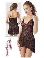 Φόρεμα Ασύμμετρο Μαύρη-Δαντέλα