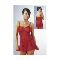 Διάφανο Κόκκινο Φόρεμα & Στρινγκ