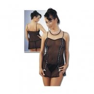 Διάφανο Μαύρο Φόρεμα & Στρινγκ