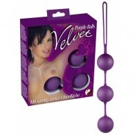 """Στρογγυλές μπίλιες """"Velvet Purple Balls 3"""""""