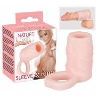 Κάλυμμα πέους Nature Skin Sleeve & Ring