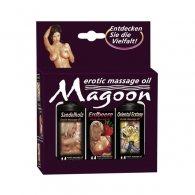 Ερωτικό Σετ Λάδι Μασσάζ Erotic Massage Oil 3 τμχ