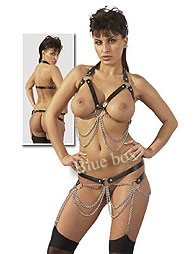 LEATHER/ CHAIN SET