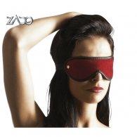 Δερμάτινη Κόκκινη Μάσκα Ματιών  S-L