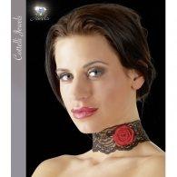 Κολάρο μαύρο δαντέλα με τριαντάφυλλο Halsband Rose