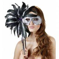 Μάσκα μαύρ σε ασημί