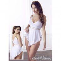 """Μίνι Φόρεμα λευκό """"Αρχαιοελληνικό"""""""
