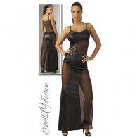 Μακρύ Μαύρο Φόρεμα με Διαφάνιες