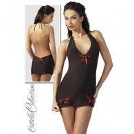 Μίνι Φόρεμα Μαύρο-Κόκκινο ανοιχ.πλάτη