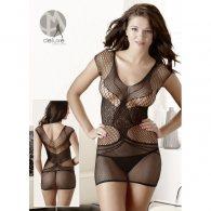 Μίνι Ιδιαίτερο Φόρεμα Διχτυωτό με Σχέδιο S-L