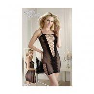 Μίνι Φόρεμα Διχτυωτό και με τιράντες S-L