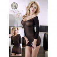 Μίνι Μαύρο Φόρεμα με χρυσή λεπτομέρεια