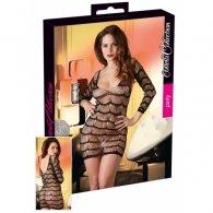 Διχτυωτό μίνι φόρεμα και μακρυμάνικο