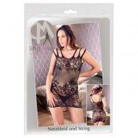 Μίνι Φόρεμα Διχτυωτό με Σχέδιο