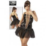Φόρεμα απο βινύλιο/τούλι
