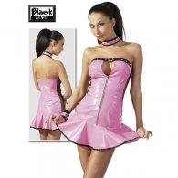 Μίνι Φόρεμα Βινύλ Strapless Ροζ