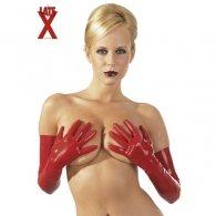 Κόκκινα Μακριά Γάντια Latex