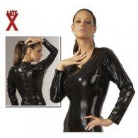 Μπλούζα Latex Μαύρη με Μακριά Μανίκια