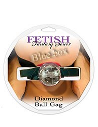 DIAMOND BALL GAG CLEAR