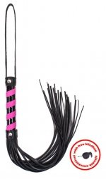 Whip black & pink leather with blindfold