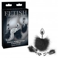 FETISH FANTASY LIMITED EDITION FEATHER NIPPLE CLAMPS AND ANAL PL