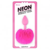 PIPEDREAM NEON BUNNY TAIL BUTTPLUG PINK